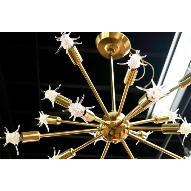 Fabulous Mid Century Sputnik Starburst Chandelier! This is a great piece at a great price! This chandelier is in full...