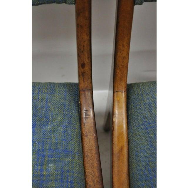 Blue Drexel Dateline John Van Koert Walnut Mid Century Modern Dining Chairs - a Pair For Sale - Image 8 of 13