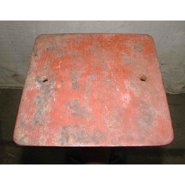 Industrial Red Metal Pedestal Base