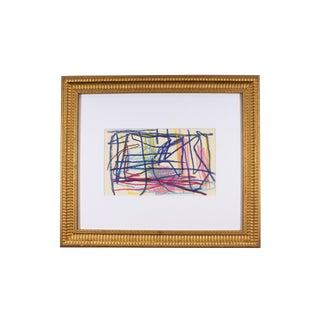 Paul Chidlaw Late 20th Century Non-Objective Oil Pastel Drawing For Sale