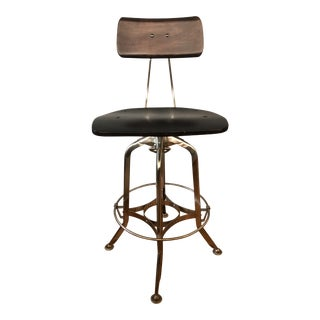Vintage Restoration Hardware Toledo Style Bar Chair For Sale