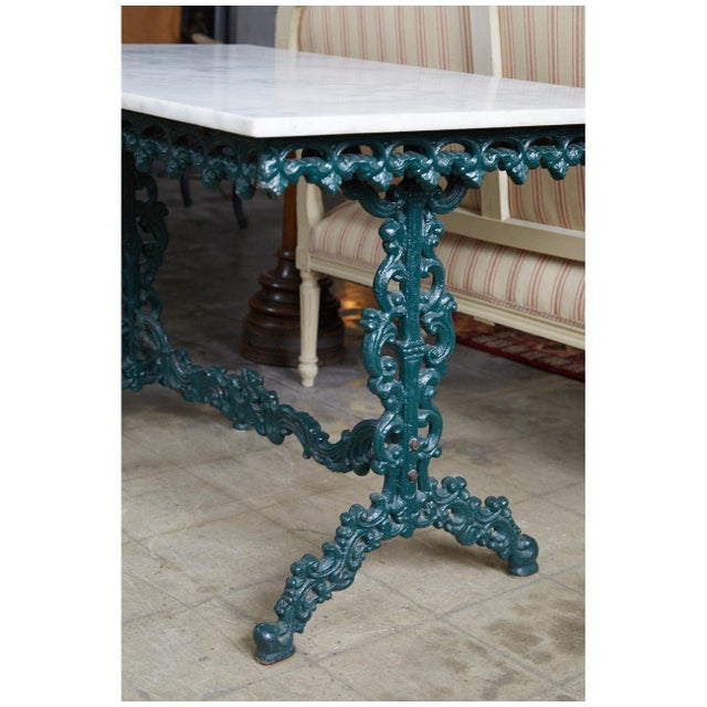 19th Century French Cast Iron and Marble Table For Sale - Image 5 of 7