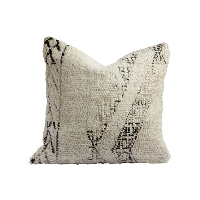 Moroccan Vintage Beni Ourain Pillow - Image 1 of 6