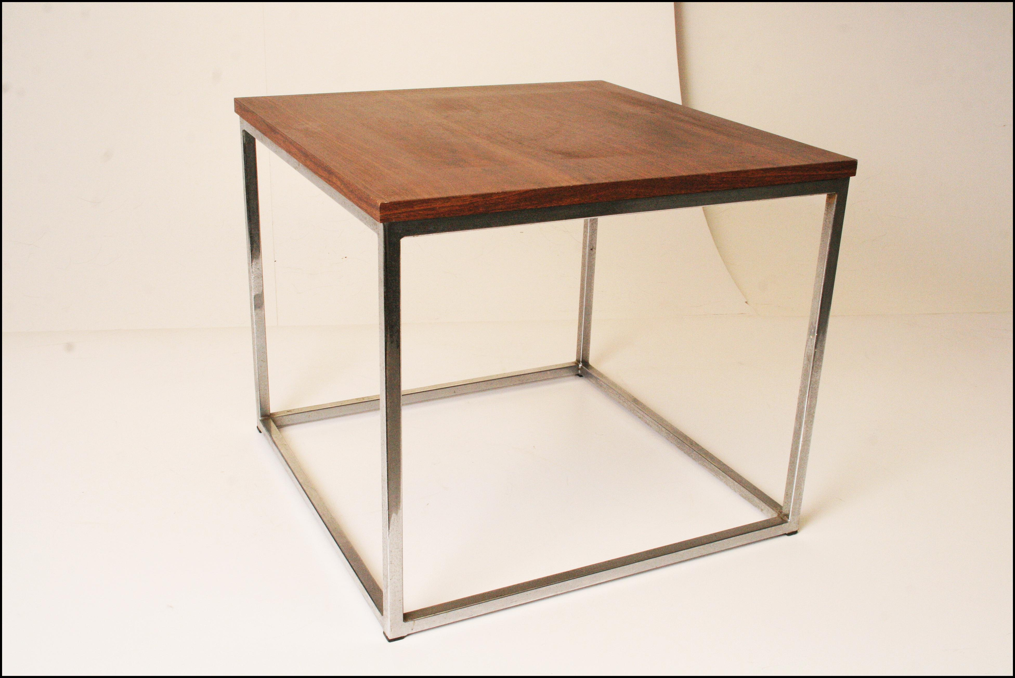 Davis Furniture Mid-Century Square Side Table | Chairish | furniture davis square