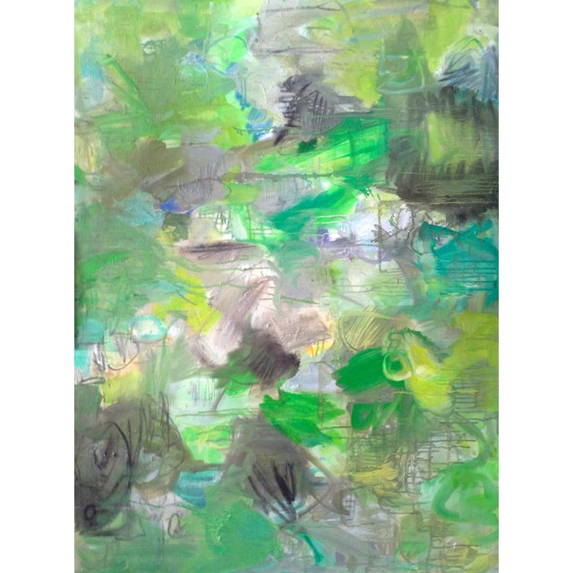 """Trixie Pitts Abstract Painting """"Nashville Rain"""" - Image 2 of 4"""