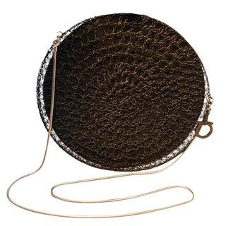 Salvatore Ferragamo Black Wire Shoulder Bag Runway For Sale