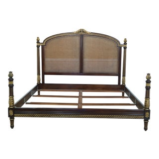 Ej Victor King Size French Style Cane Bed For Sale