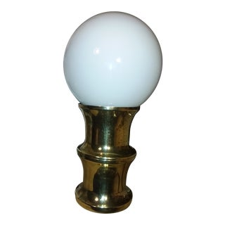 Moving Sale Price Now $119 Mid-Century Brass and Glass Globe Table Lamp For Sale