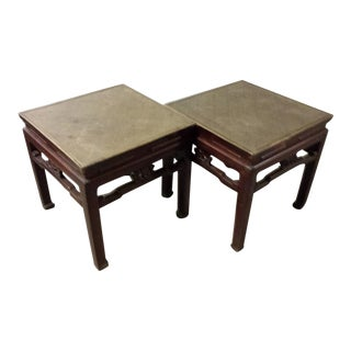 Antique Chinese Low Square Tables - a Pair For Sale