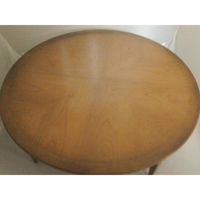 Mid-Century Round Cherry Coffee Table **** Sold**** - Image 3 of 4