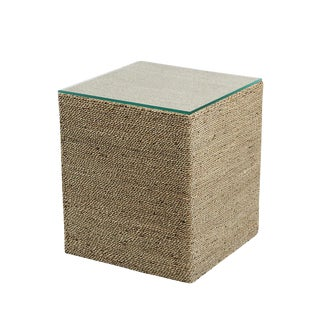 Seagrass Rope Side Table For Sale