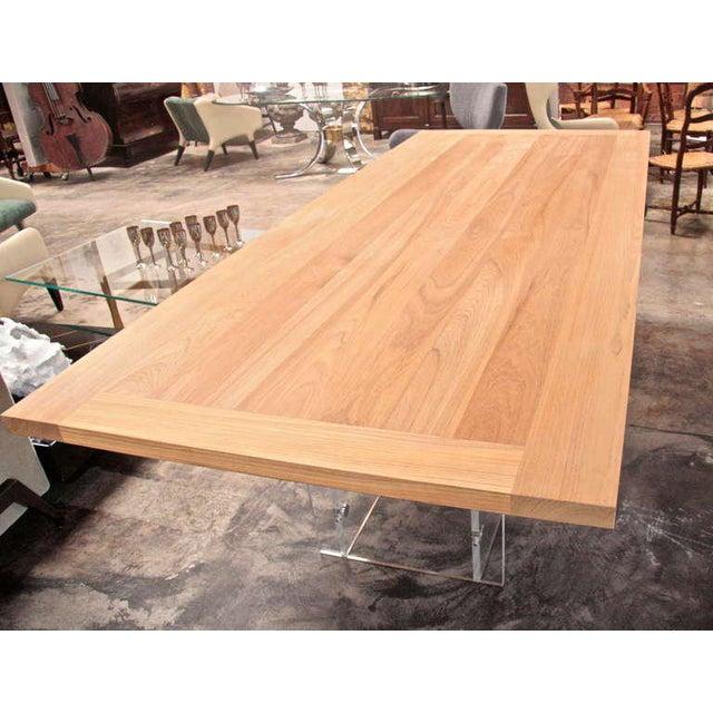 """Spirit"" Burma Teak Table with Plexi Base For Sale - Image 5 of 9"