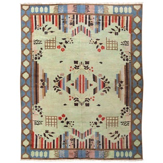 Art Deco Indian Rug - 9′2″ × 11′10″ For Sale