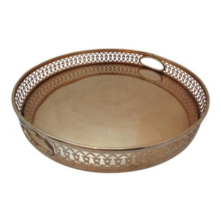 William Rogers & Son Vintage Brass Gallery Tray