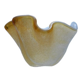 Mid 20th C. Vintage Murano Hand Blown Art Glass Peleguso Bowl