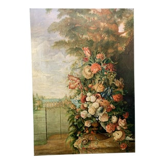 Palace Size Floral Castle Scene Painting For Sale