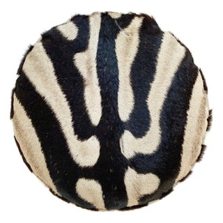 Zebra Hide Squab Pillow For Sale