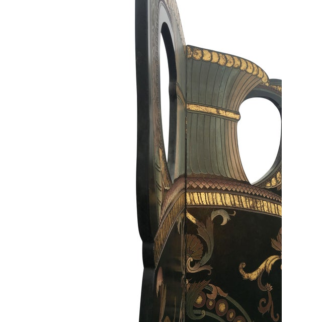 6 Foot Tall 1930s Hand Carved and Painted Art Deco Screen - Image 3 of 10