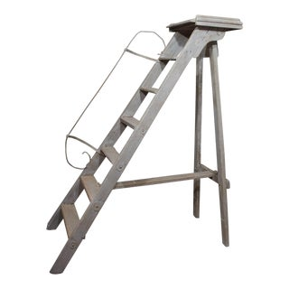 19th Century French Painted Ladder For Sale