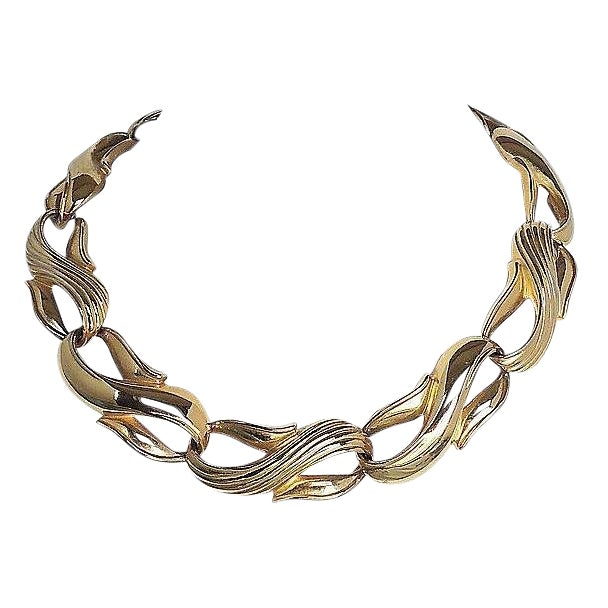 Givenchy Textured & Smooth Link Necklace For Sale