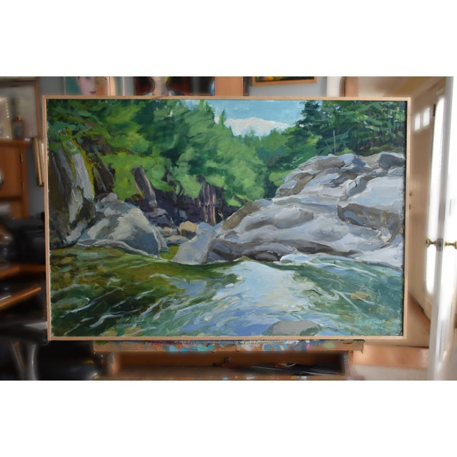 """Contemporary Plein Air Painting, """"Above the Falls"""", by Stephen Remick For Sale In Providence - Image 6 of 6"""