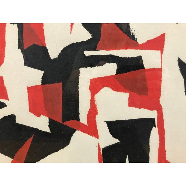 """John Otterson """"Broken Red"""" Abstract Serigraph, Signed & Numbered, Early 1950s For Sale - Image 4 of 9"""