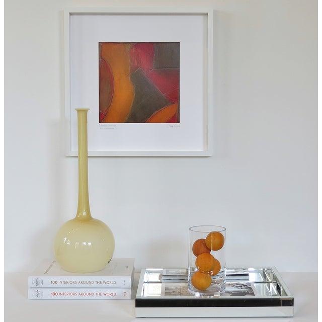 Atmospheres, Orange/Red Framed Painting - Image 7 of 9