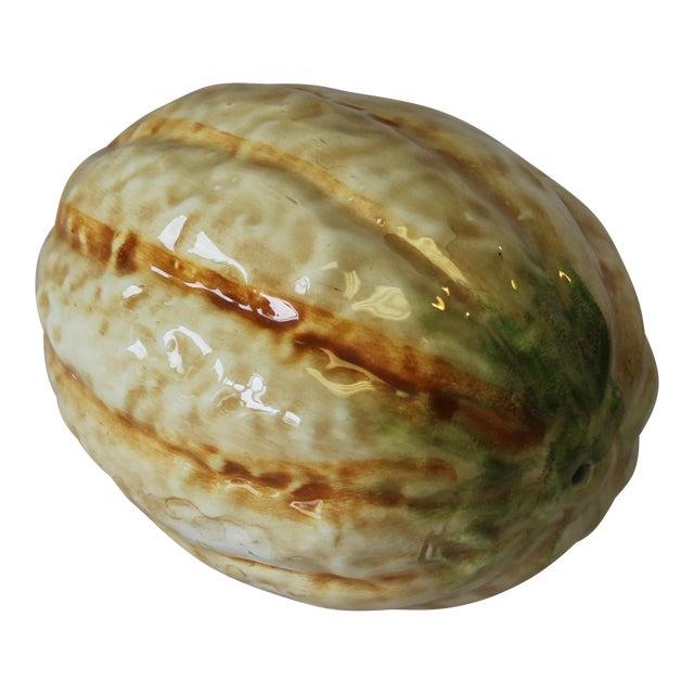 Vintage Italian Ceramic Cantaloupe For Sale