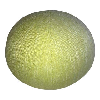 Duralee Linen Round Upholstered Ball Pillow For Sale