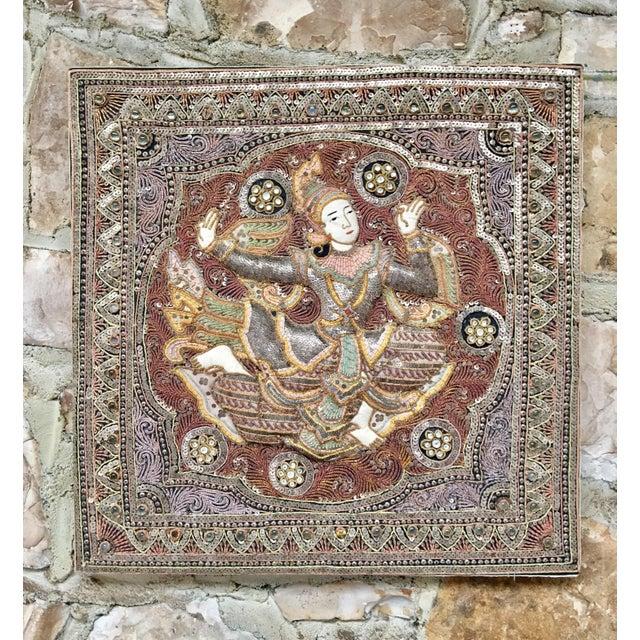 Vintage Burmese Kalaga Dancer Tapestry For Sale - Image 10 of 10