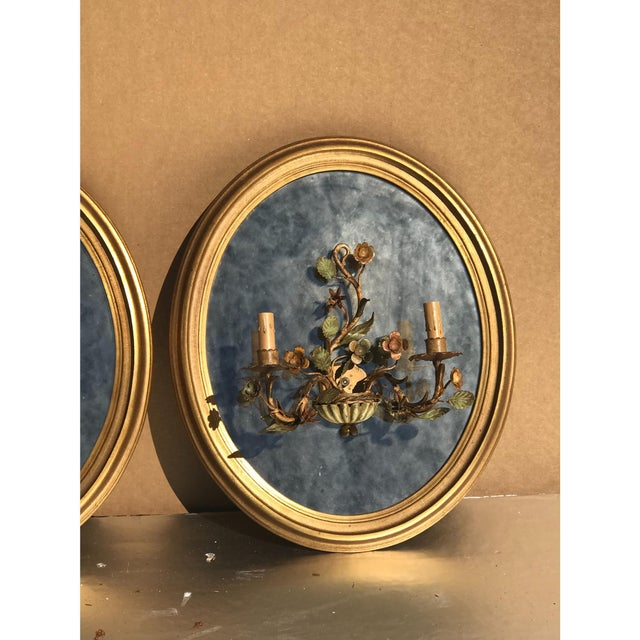 Oval Giltwood Mirrors - A Pair - Image 5 of 6