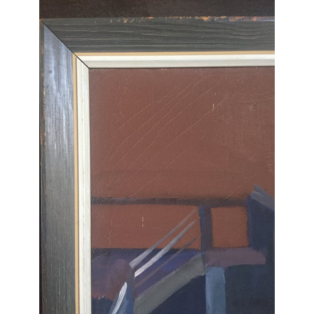 Modern Mid-Century Original Painting For Sale - Image 3 of 7