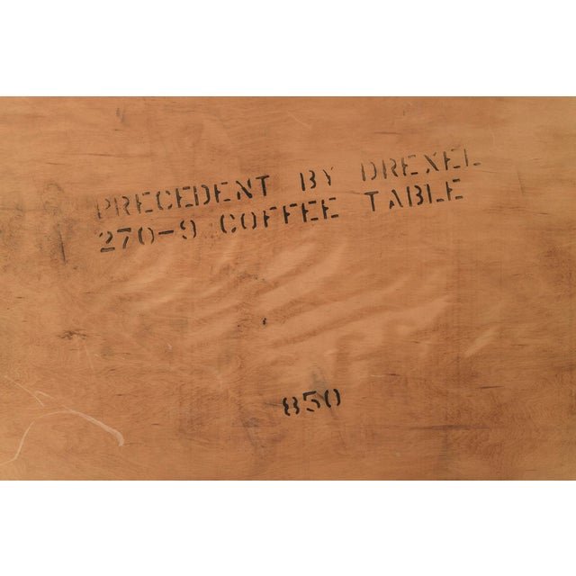Animal Skin Edward Wormley Leather Top Coffee Table For Sale - Image 7 of 7