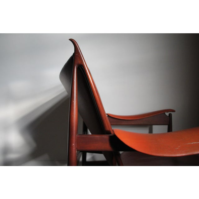 1990s Finn Juhl Chieftain Chair in Mahogany by Interior Crafts For Sale In San Diego - Image 6 of 8
