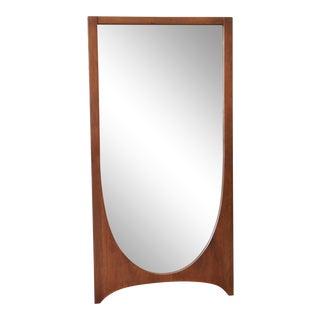Broyhill Brasilia Mid-Century Modern Walnut Framed Mirror For Sale