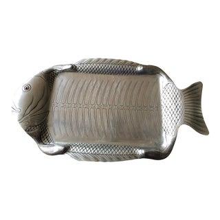 Arthur Court Aluminum Fish Platter