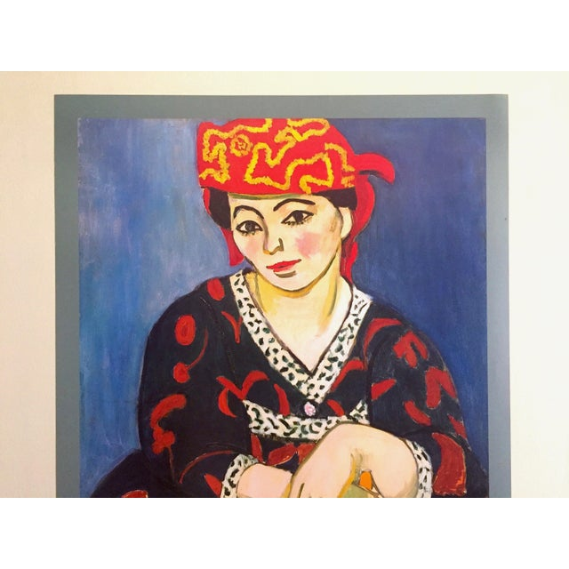 "This Henri Matisse rare vintage 1993 lithograph print museum poster "" Madame Matisse Madras Rouge "" 1907, is a very..."