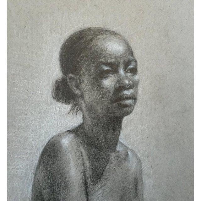 African-American Female Nude Drawing  Chairish-1801