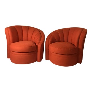 Mid-Century Swivel Chairs - A Pair