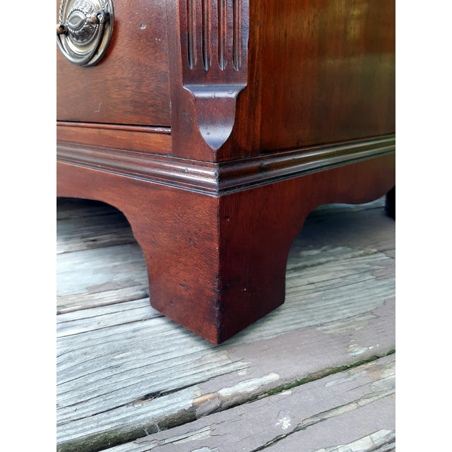 Metal Vintage 1940's Mahogany 4 Drawer Server Accent Chest For Sale - Image 7 of 13
