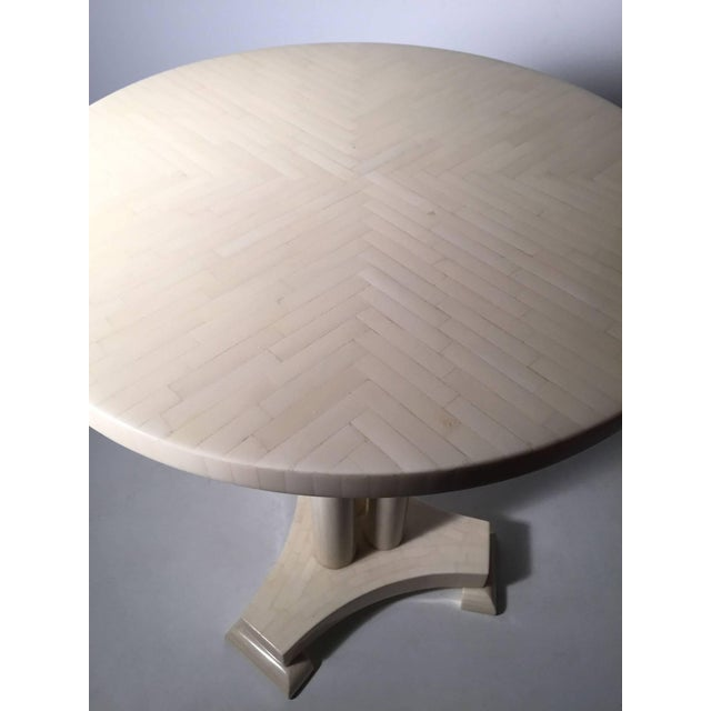 Mid 20th Century Classy Pair of Enrique Garcel Neoclassical Side Tables for Jimeco For Sale - Image 5 of 6