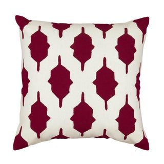 Contemporary Tr Essentials Burgundy Applique Pillow - 18x18 For Sale