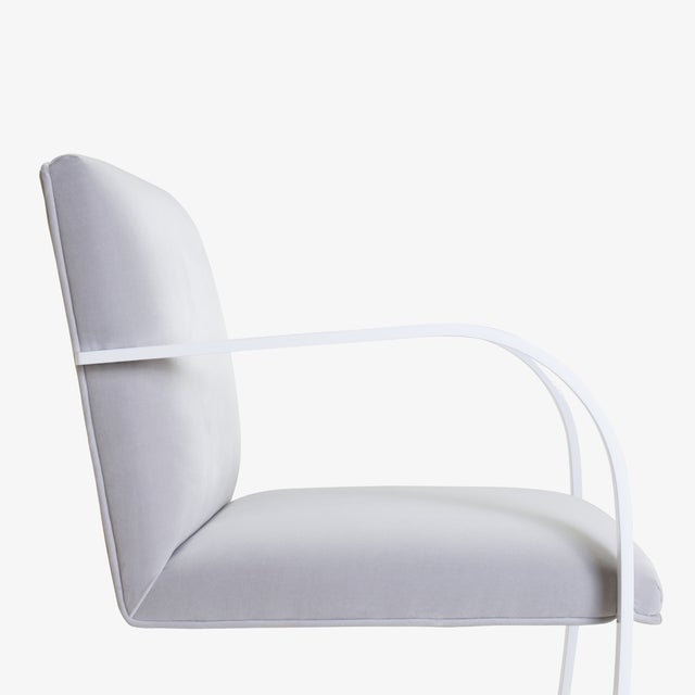 Not Yet Made - Made To Order Brno Flat-Bar Chairs in Dove Velvet, Lunar Gloss Frame For Sale - Image 5 of 10