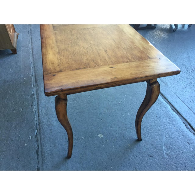 Maple French Provincial Style Writing Desk For Sale - Image 7 of 10