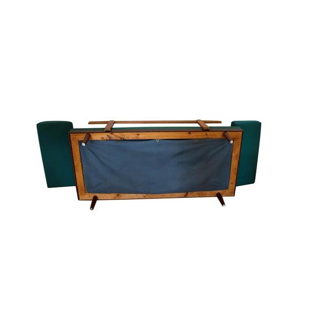 Green Norwegian Modern Teak Daybed Sofa Pull Out Tables Edvard Kindt Larsen for Gustav Bahus For Sale - Image 8 of 10