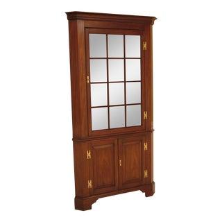 Henkel Harris Model 1114 Lighted Mahogany Large Corner Cabinet