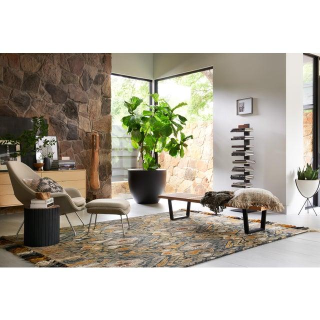 "Transitional Loloi Rugs Farrah Rug, Charcoal / Khaki - 2'3""x3'9"" For Sale - Image 3 of 6"