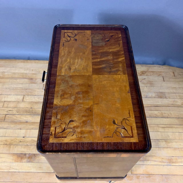 1930s Rootwood & Rosewood Bar Cabinet With Intarsia For Sale - Image 9 of 11