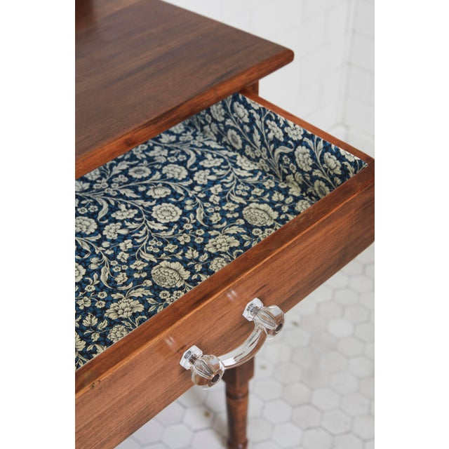 Mid 19th Century 19th Century Traditional Fruitwood Wash Table With Lined Drawer For Sale - Image 5 of 8
