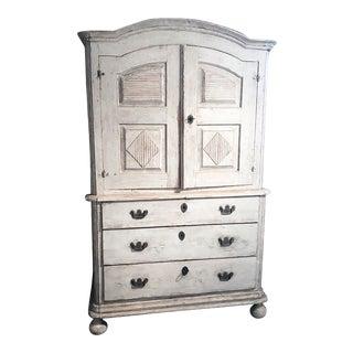 18th Century Swedish Off-White Cupboard